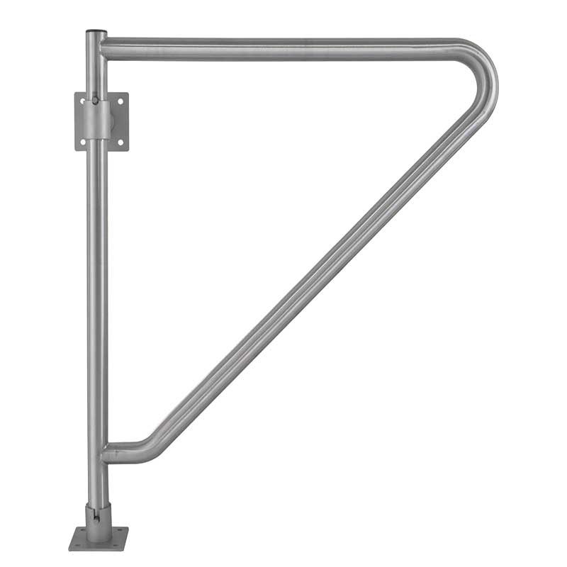 Bradley Stainless Steel 29 75 Quot L X 33 25 Quot H Swing Away Grab Bar